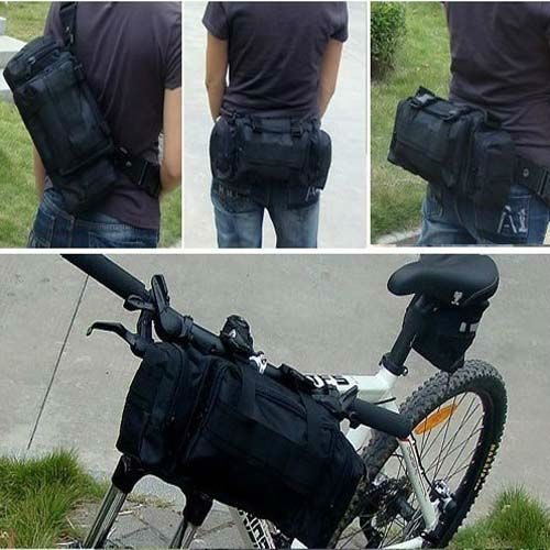 Multi Cycling Bike Bicycle Frame Pannier Front Bag Waist Shoulder backpacks bags in Sporting Goods, Clothing, Shoes & Accessories | eBay