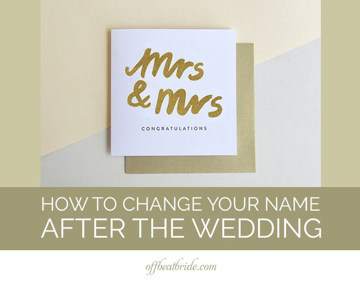 SO much useful information about changing your name after the wedding.