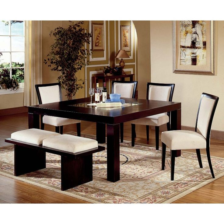 Furniture Magnificent Dining Table And Bench Set From The