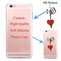Custom Design DIY Transparente Silicone Case Cover For iPhone 6 6s 6plus Customized Printing Cell Phone Case