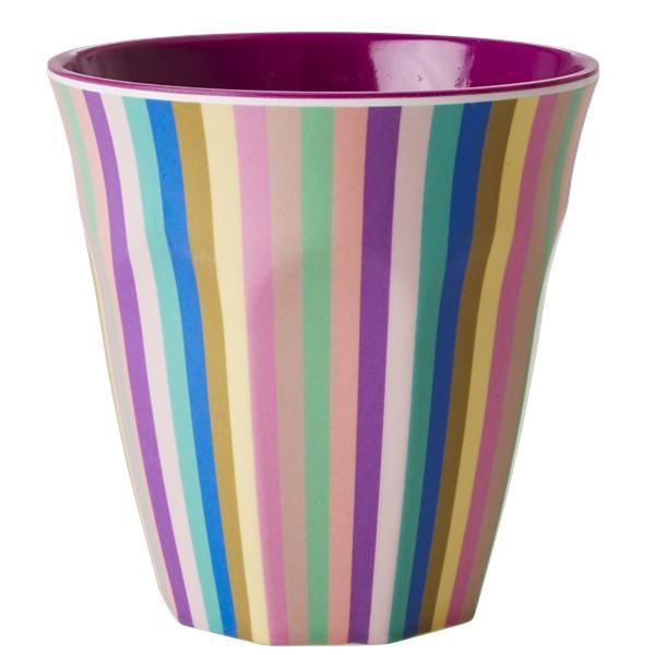 Melamine cup - Two Tone Multicolor Stripe Print Retro Baby Clothes - Baby Boy clothes - Danish Baby Clothes - Smafolk - Toddler clothing - Baby Clothing - Baby clothes Online