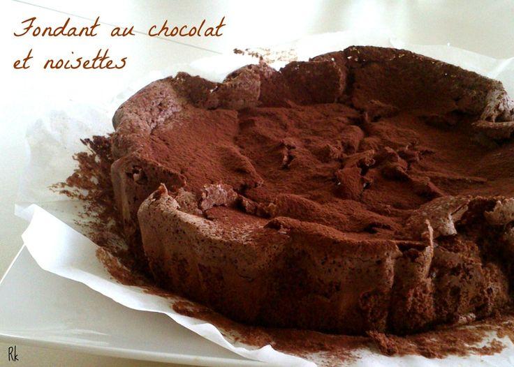 Fabulous cake : fondant au chocolat aux noisettes (sans farine)