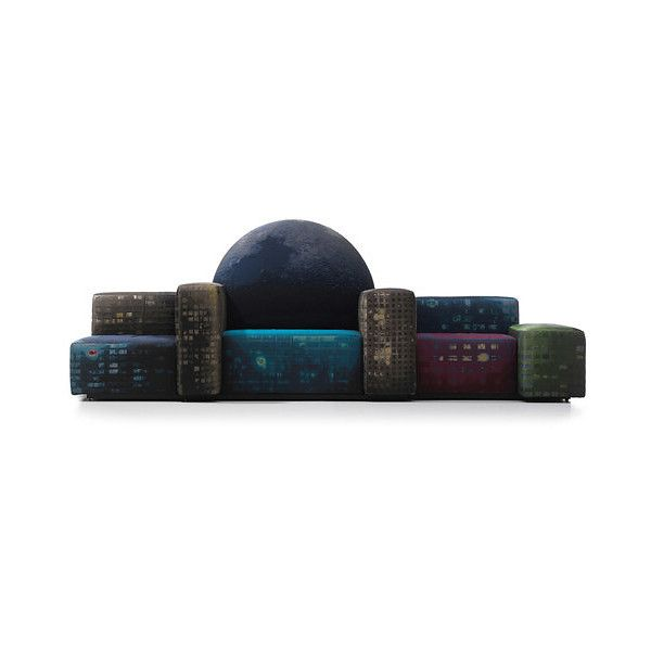 Gaetano Pesce Notturno A New York Sofa ❤ liked on Polyvore featuring home, furniture, sofas and gaetano pesce