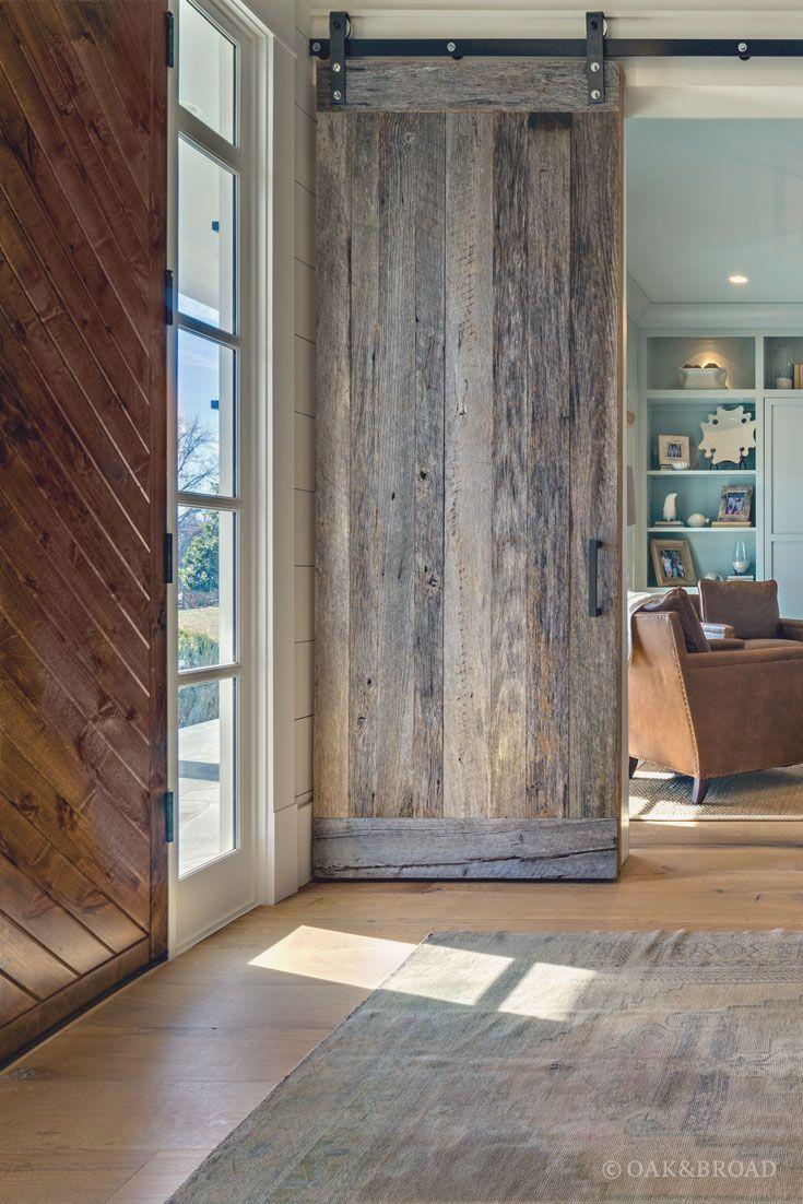 White oak hardwood floor by Oak & Broad.
