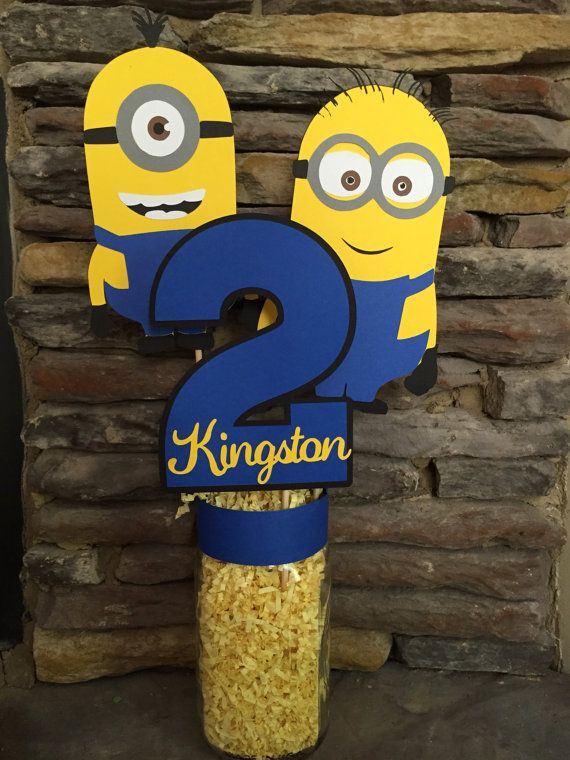 Minion Inspired Birthday Centerpiece Minion Party Decor Happy