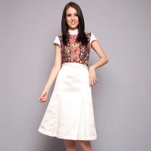Off White A Line Skirt