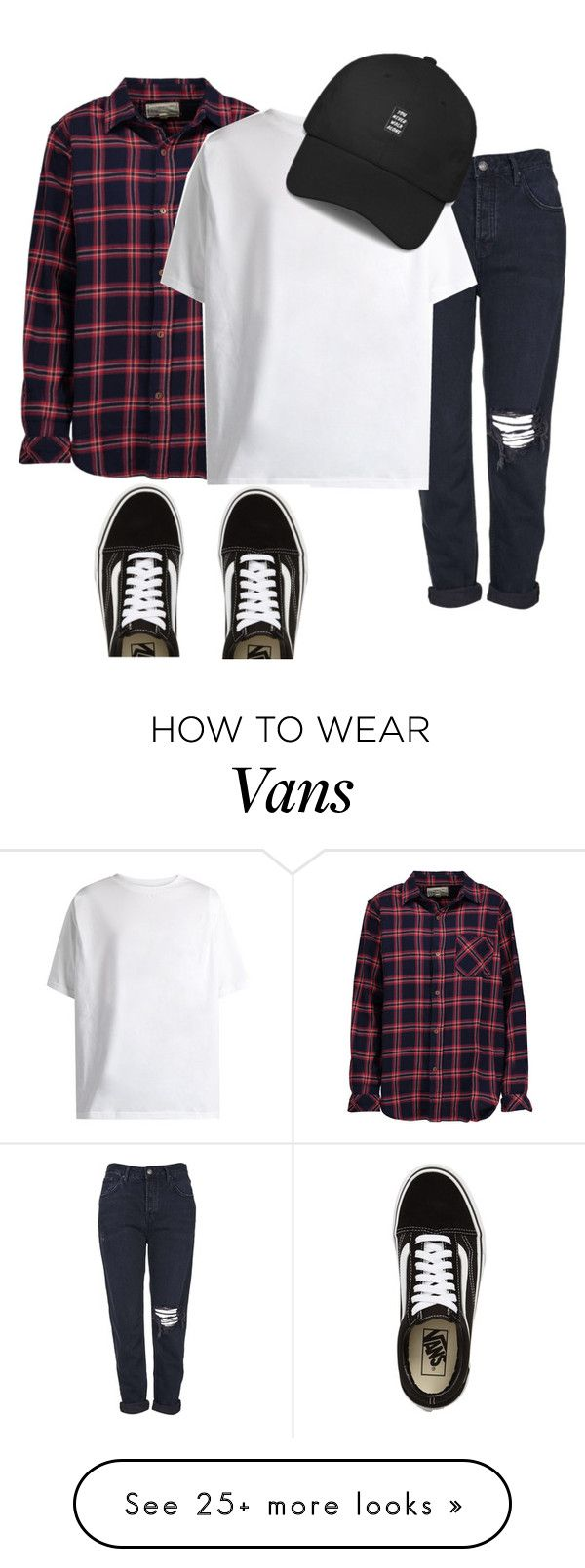 """hip hop style"" by brave-women on Polyvore featuring Topshop, Current/Elliott, Martine Rose and Vans"