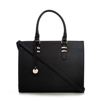Call It Spring Black 'Toquerville' large tote bag | Debenhams