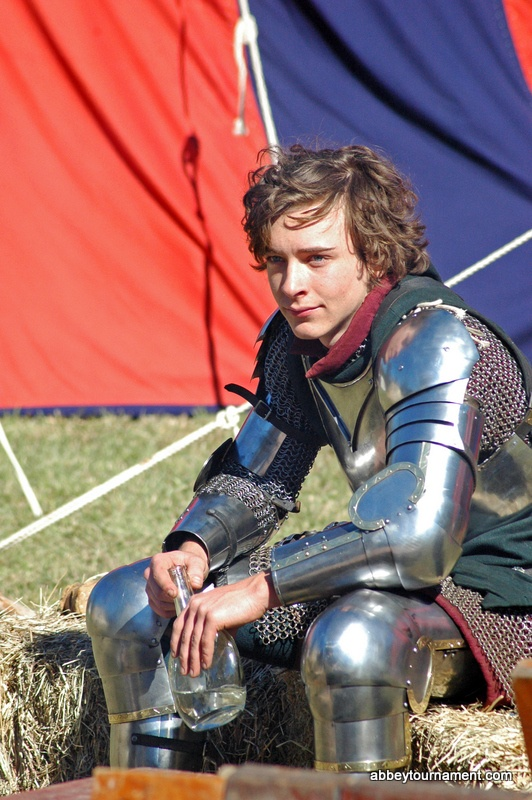 Alexander von Kessell from Lion Rampant resting at last year's Abbey Medieval Festival. Be sure to check out this year's authentic encampment at the Festival on July 7 and 8.