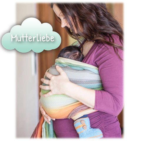 Ideal zum Tragetuch: Baby-Boots aus temperaturausgleichender Baby Alpaka Wolle (warme Füßchen ohne Schwitzen). Copyright Kundenfoto: www.familialunasol.com