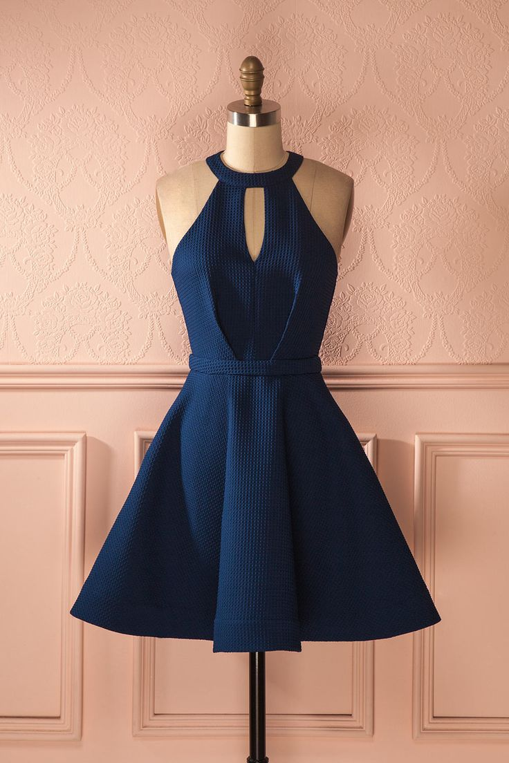 Salli Water - Navy cocktail dress