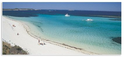 Perfect Rottnest Island beach off the coast from Perth Western Australia. Awesome Getaway!