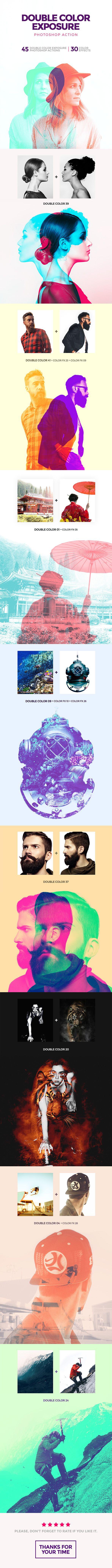 Double Color Exposure Photoshop Action
