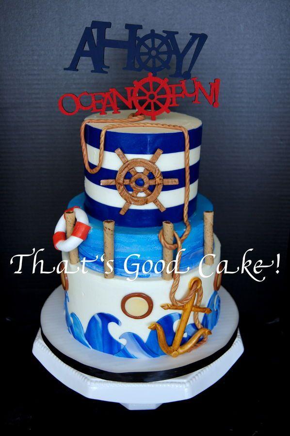 337 best Nautical Cakes images on Pinterest Nautical cake Conch