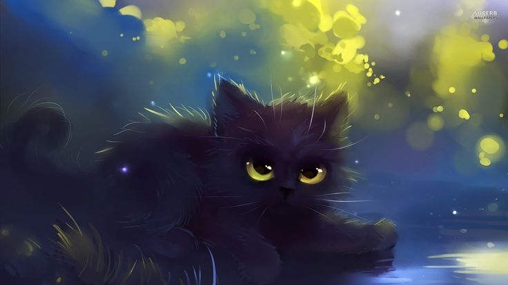 Anime demon cat google search kawaii pinterest - Anime cat wallpaper ...