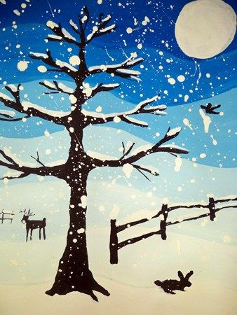 Tints of Winter [tree appears stylized, because it is too symmetrical for realistic]