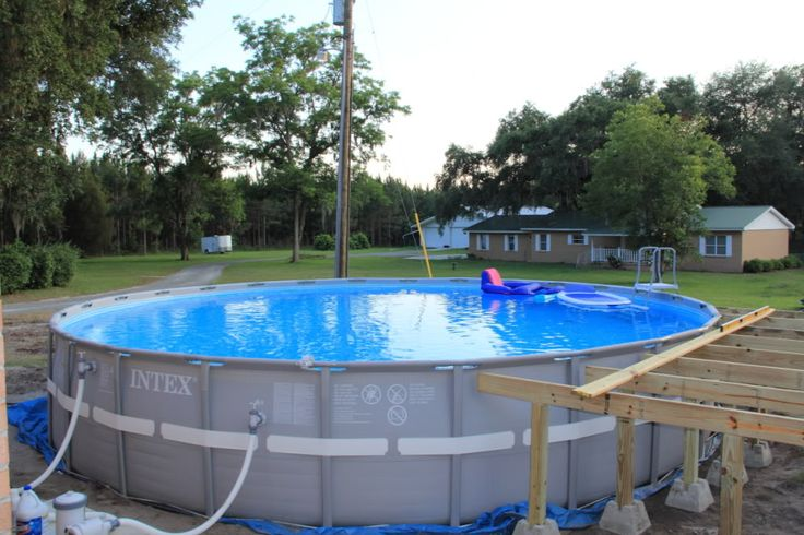 New Intex 26' Ultra Frame Owners Pool decks