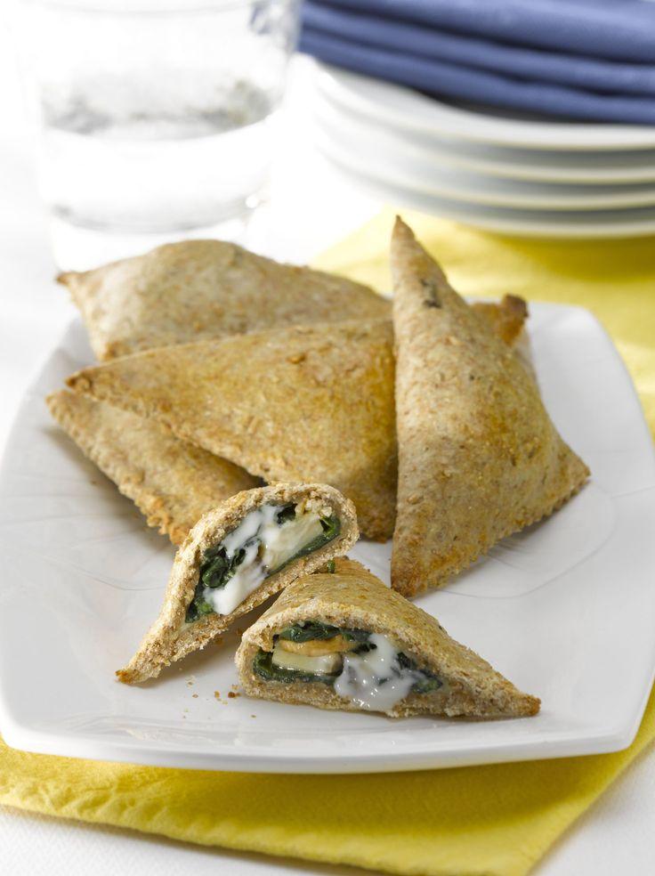Empanaditas integrales de espinaca y champiñon