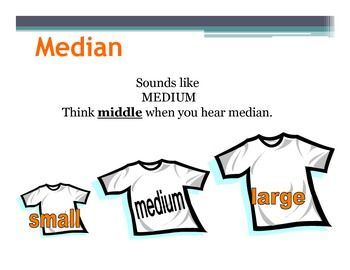 Mean, median, mode, range (30 Posters)30 Beautiful and colorful posters.I posted these posters in my classroom, and my students found the explanations very useful!!! (The last three slides are about Math songs (Mean, median, mode)MY OTHER MATH POSTERS Math Posters: Funny Math Quotes (15 Posters) Math Poster: SOHCAHTOA Math Posters : Real Numbers Math Posters : Tools For Algebra and Geometry (30 Posters) Math Posters :Triangles (20 Posters) Math Posters: 10 COMMON ERRORS IN ALGEBRA Math ...