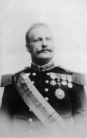 """HM King Carlos I of Portugal (1863-1908). """"Fat and pink just like a prize pig….[he] eats enormously and they say he takes a good deal of exercise but the more he takes the more he eats and I should fear apoplexy at 40 but he is 32 now! He is so fat that he bounds rather than eats and his greediness is quite appalling. The gentlemen call him the Champion Liar.."""" ~Marie Mallet"""