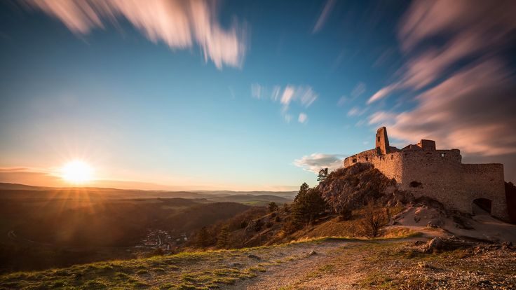 Sunset at Bathory Castle -