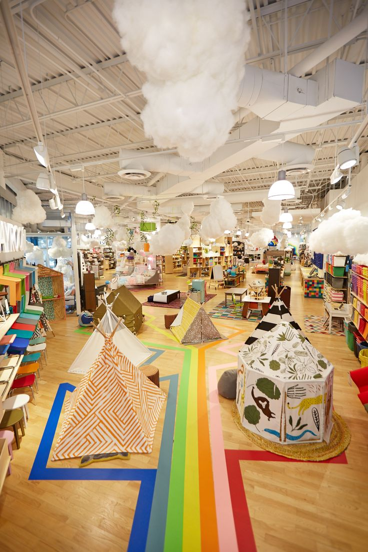 We gave our Chicago store a bit of a makeover recently. It's filled with DIY hanging clouds! Best of all, it's easy to create yourself.