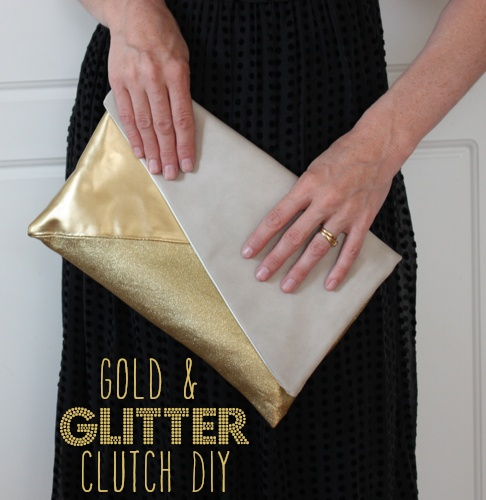 If you can't find a matching clutch for that special occasion, just spray paint an old one.