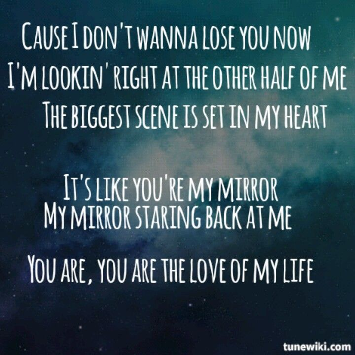 And I'll tell you baby, it was easy comin back into to you once I figured it out you were right here all along...it's like your my mirror
