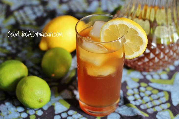 Oldtime Jamaican Lemonade Recipe Beverages with cold water, lime, lemon, brown sugar, molasses