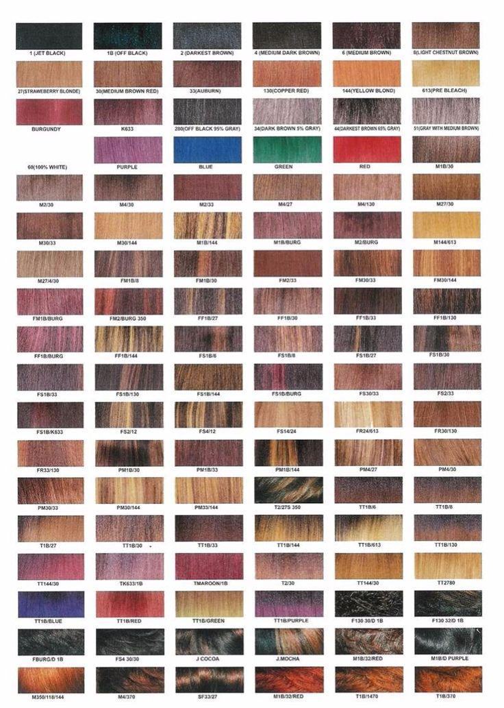 Haare tonen farbpalette