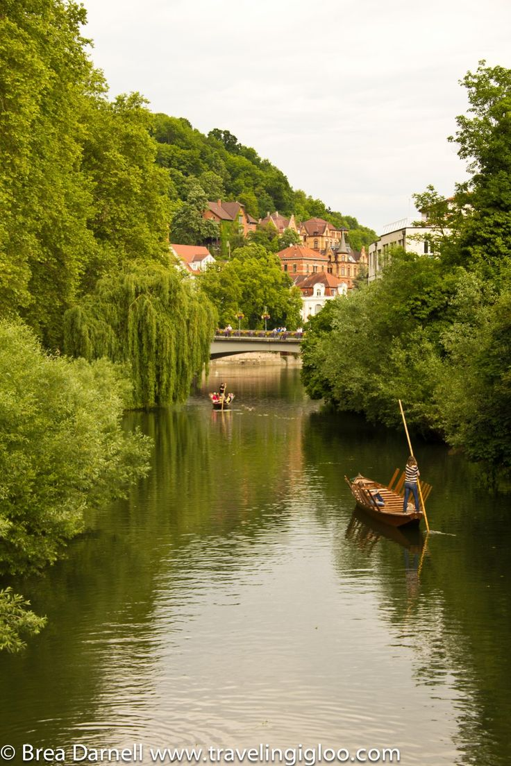 Tubingen - They have gondola style rides along the river.