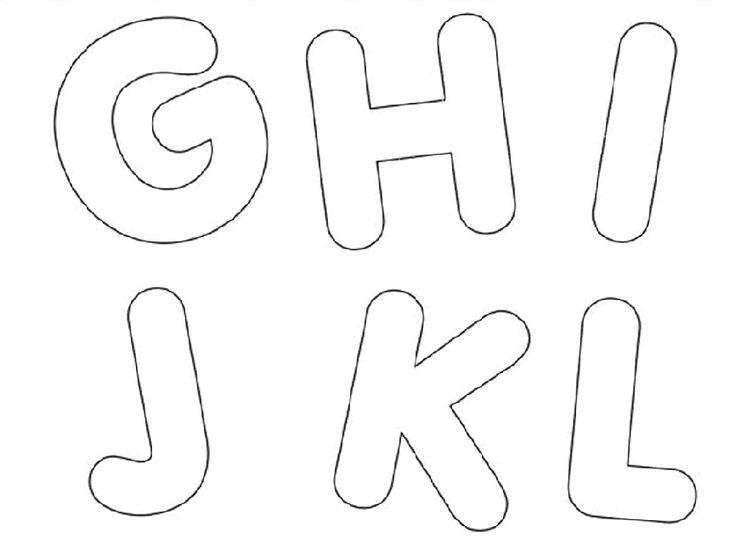 moldes de letras média do alfabeto em eva