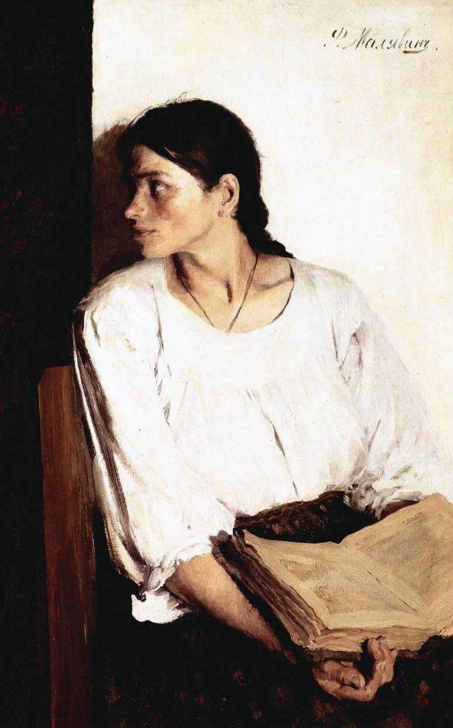 малявин филипп  портрет александры  малявиной, 1895