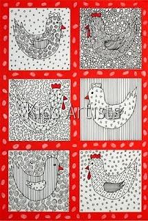 pattern chickens