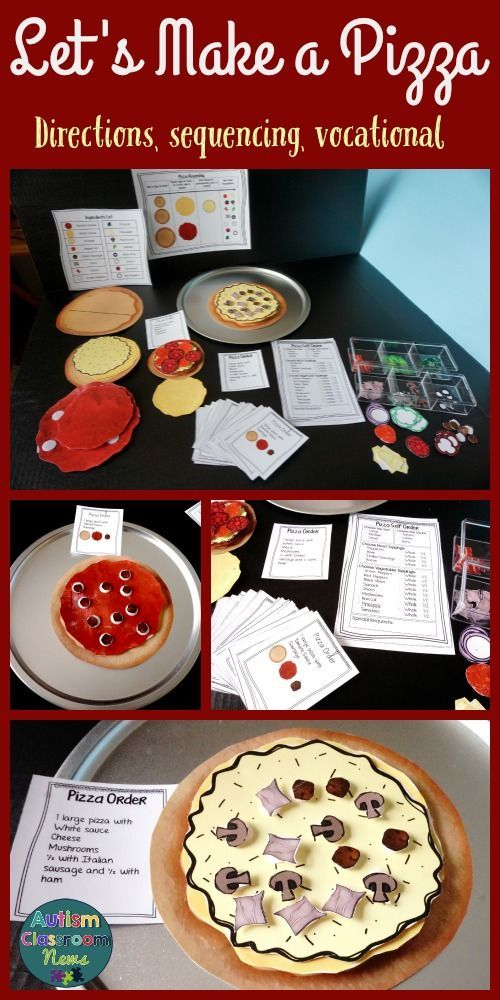 Want activities to work on following directions, functional literacy, sequencing, and functional reading that are also vocational?  Let's Make a Pizza!!  Great for special education and autism students! $