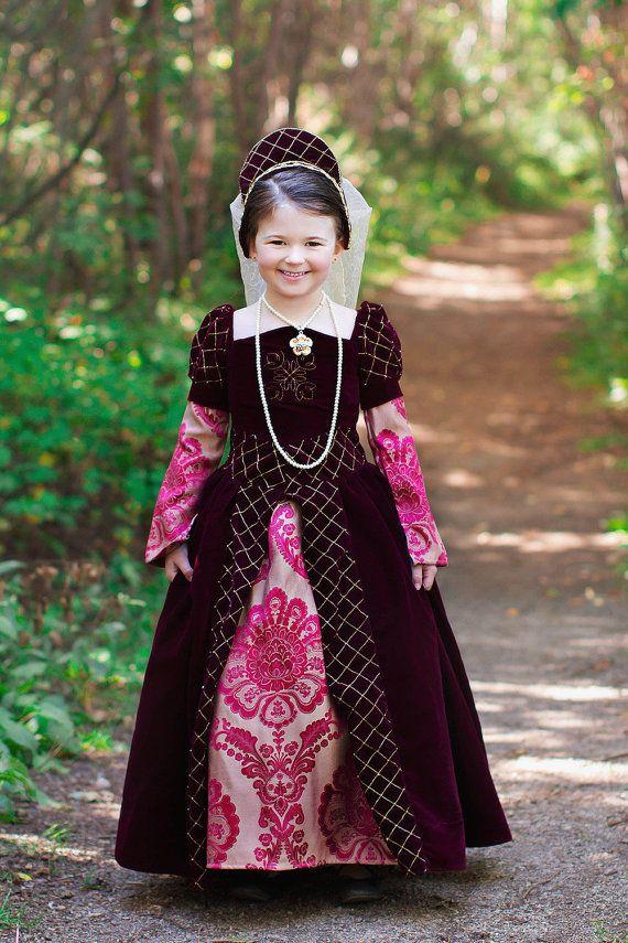 e693eb8db863 Girls Velvet Costume Girls Tudor Costume By EzzibeeDesigns Sc 1 St  Pinterest. image number 4 of girls renaissance costumes ...