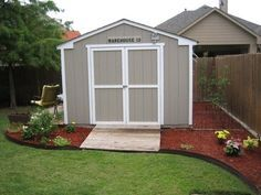 Landscaping around a Storage Shed | Improve the looks of a storage shed : Landscape around the building