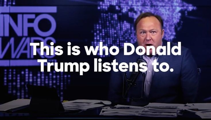 The Clinton campaign just released a new ad tying Donald Trump to rabid conspiracy theorist Alex Jones. Which, unfortunately for all of us, is a legitimate tie to make: Trump is alone among prospective American presidents in going on the lunatic's...