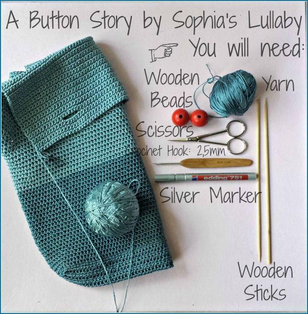 #crochetbutton, #handmade #bag, #crochet, #project, #button, #sophialullaby