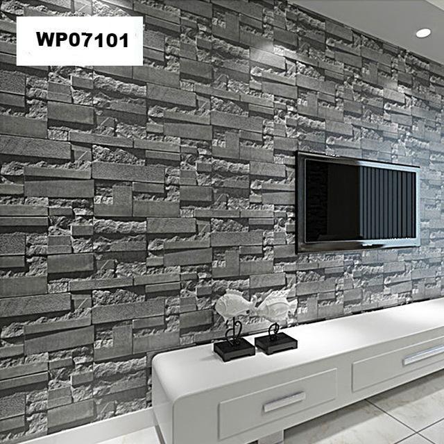 Modern Grey Brick 3d Wallpaper Stone Wallpaper 3d Wallpaper For Walls 3d Stone Wallpaper