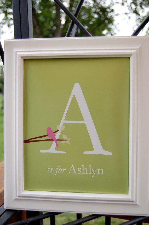 baby shower giftBaby Names, Monograms Baby, Personalized Gift For Baby, Birds Initials, Gift Ideas, Personalized Baby Gift, Baby Girls, Baby Shower Gifts, Initials Monograms