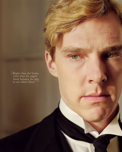 """""""Higher than the beasts, lower than the angels, stuck in our idiot Eden."""" - Ford Madox Ford, Parade's End - Benedict Cumberbatch, Christopher Tietjens - Parade's End (TV Series, 2012) #fordmadoxford"""