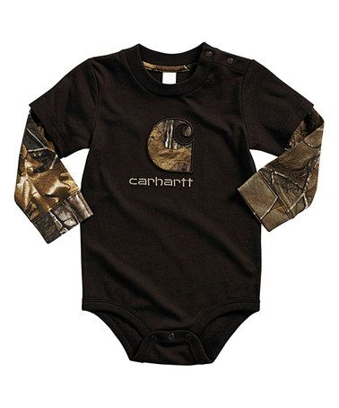 Love this Mustang Brown Realtree Xtra® Camo Layered Bodysuit - Infant on #zulily! #zulilyfinds