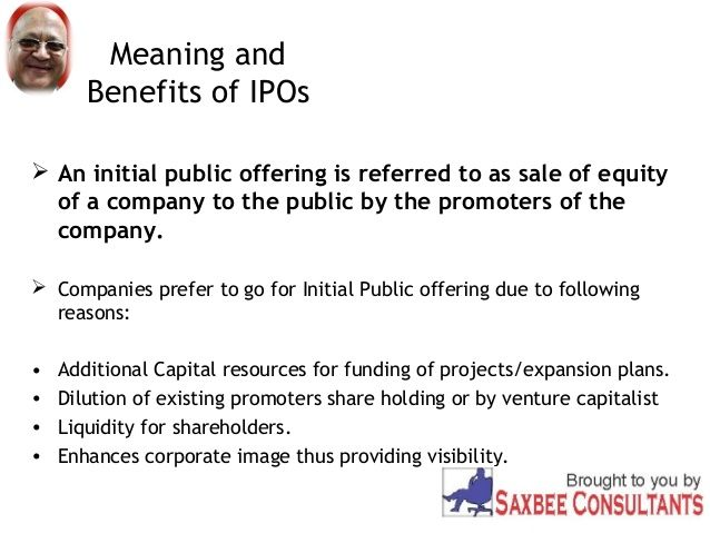 Ipo Initial Public Offering Definition