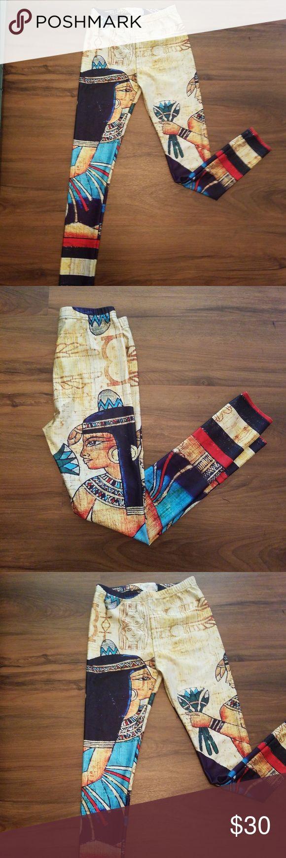 NWOT Egyptian Leggings sz S NWOT never worn Leggings with egyptian theme Very comfortable!!! Polyester elastane blend One Legging Store Pants Leggings