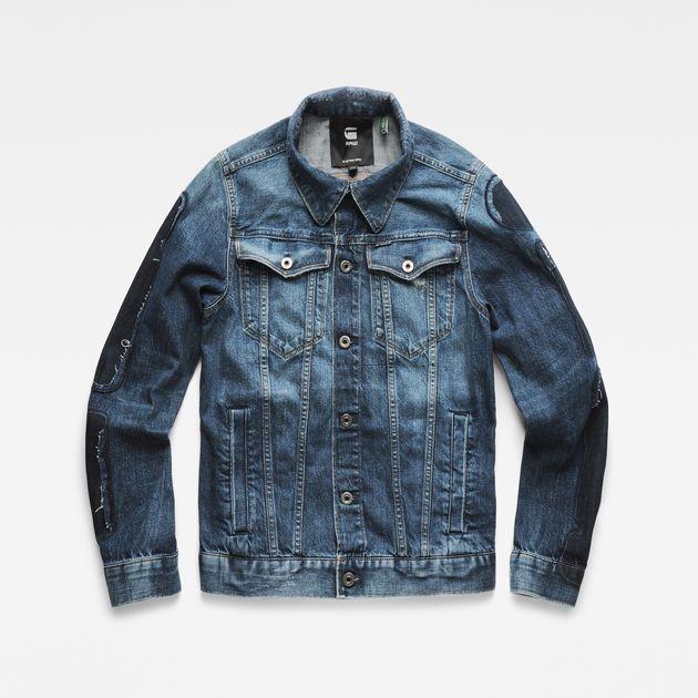 3301 Badges Slim Jacket Medium Aged Badges G Star Raw Denim Jacket Jackets Slim Denim