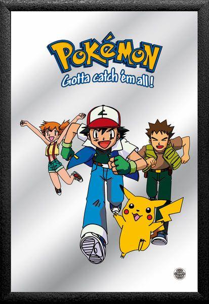 Espejo Pokémon, personajes  Espejo con la imagen de los personajes principales de la serie de Tv Pokémon.