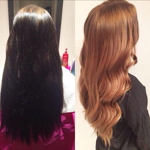 Olaplex decoloration | dark brown to light brown !  Waves hair