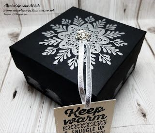 Ann's Happy Stampers: #7 Seasonal Sunday's Heat Embossed Gift Box for a ...