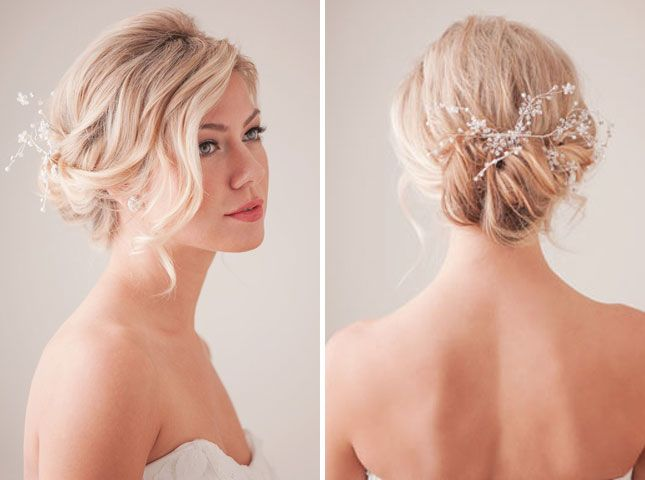 Romantic Up Do | 28 DIY Hairstyles Something like this for your hair, we could bring in the flower w/ little bits of sparkle from the dress into the hair.